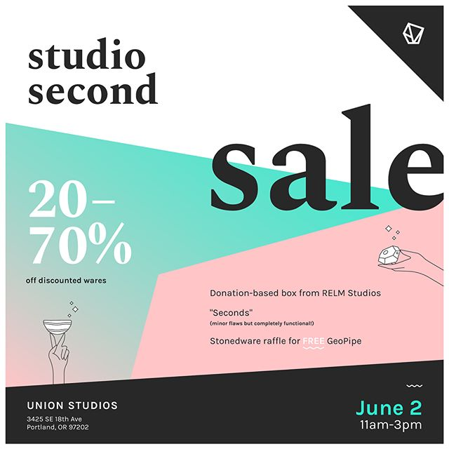 Tomorrow!!! RELM STUDIOS CLOSE OUT SALE!! Everything must go! Come stock up and say goodbye to RELM wares as I transition into just @stonedwarecompany  Saturday June 2. 11am-3pm. 3424 SE 18 Ave.