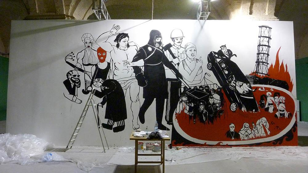 Kuznetsov's mural pre-destruction