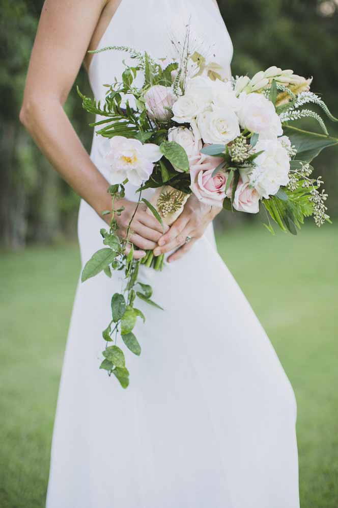 cascading garden bouquet by Passion Roots | Crystal Chanel photography | Oahu, Hawaii