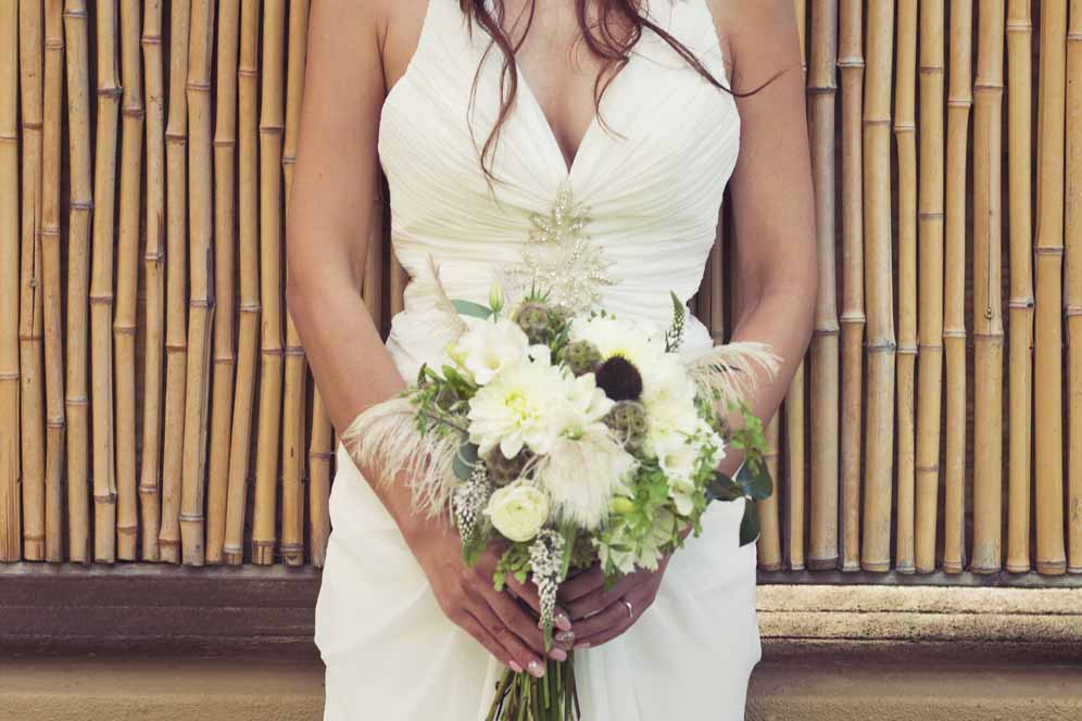lush yet rustic bouquet by Passion Roots | Tavis Leaf Glover photography | Oahu, Hawaii