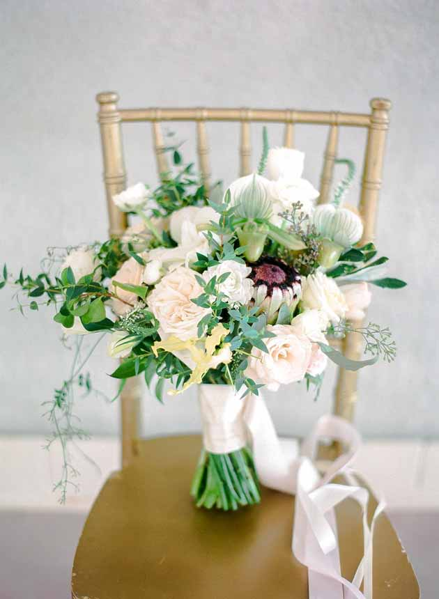 romantic garden inspired bridal bouquet by Passion Roots / Ashley Goodwin Photography