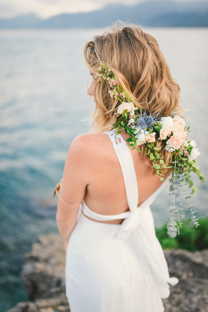 boho flower crown / flower veil by Passion Roots / Kate Ignatowski