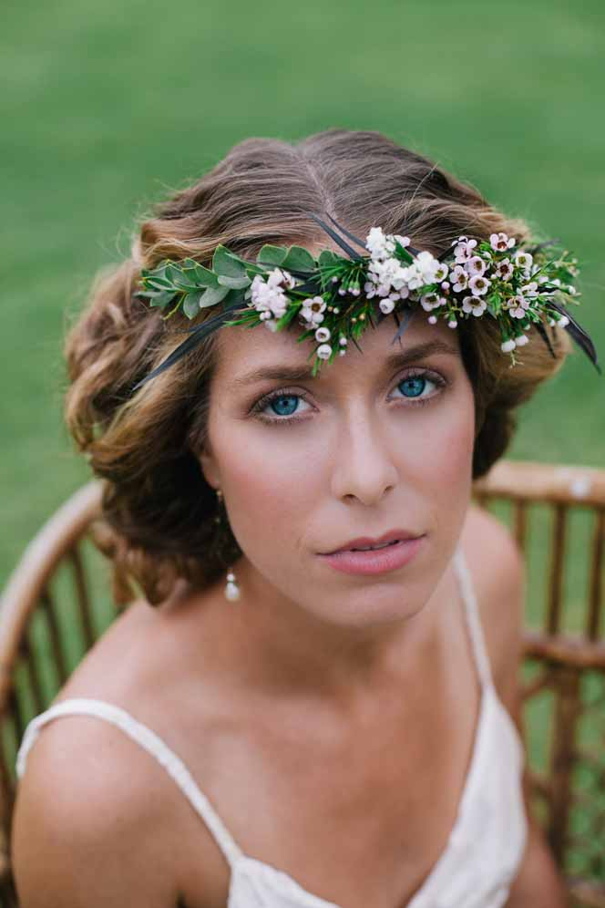 delicate flower crown by Passion Roots | Meghan Nicole Photography | Oahu, Hawaii