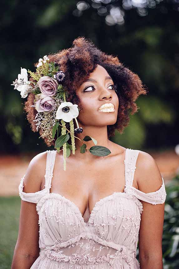 purple fantasy flower headpiece by Passion Roots / What a Day! Photography