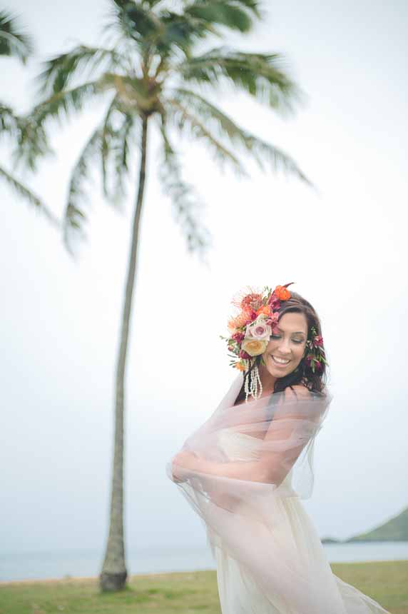 Floral head piece by Passion Roots | Oahu, Hawaii