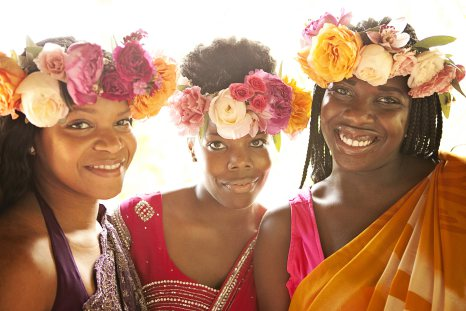 dramatic flower crown for bridesmaids by Passion Roots | Creatix Photography | Oahu, Hawaii