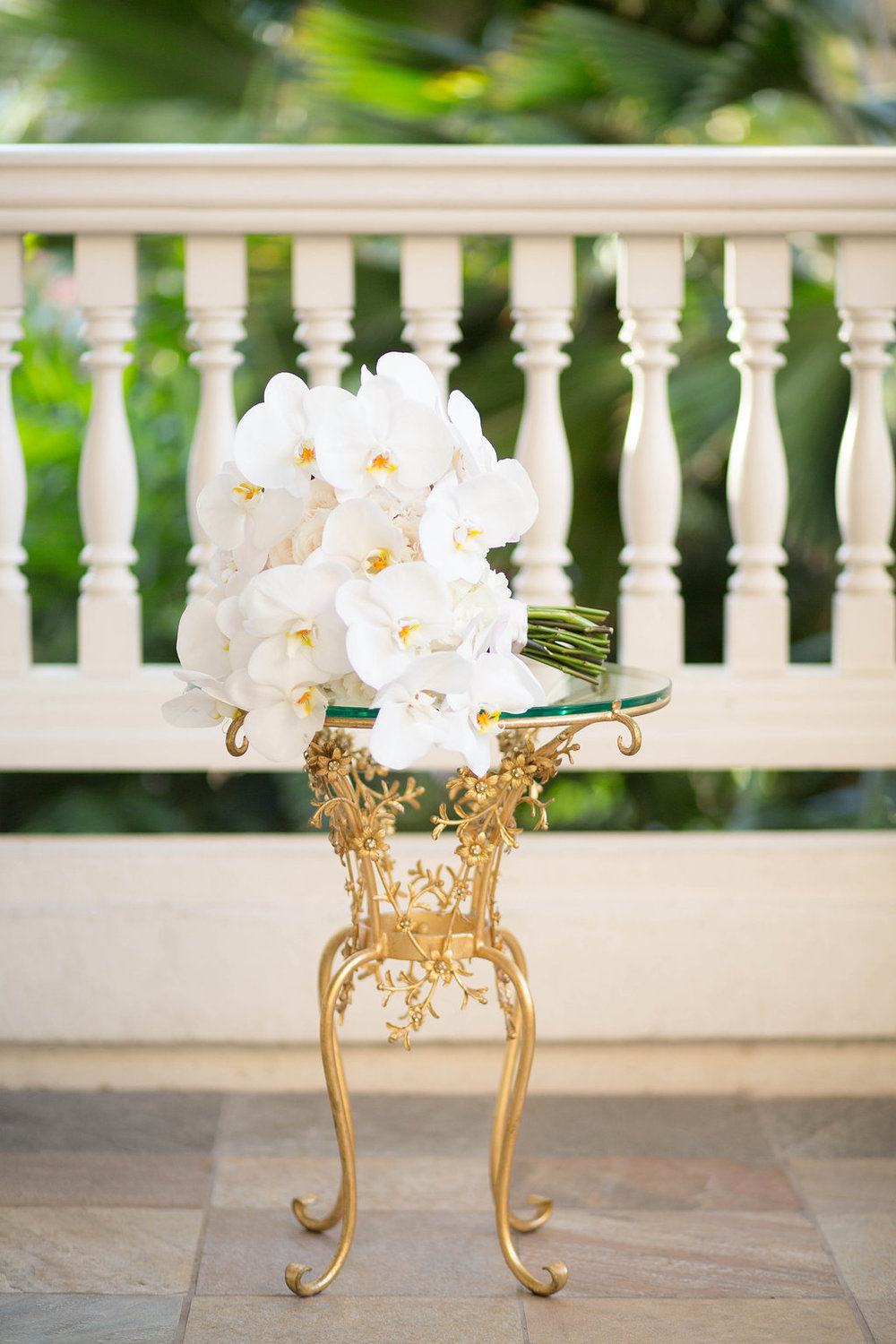 dramatic white orchid bouquet by Passion Roots / Ashley Goodwin Photography