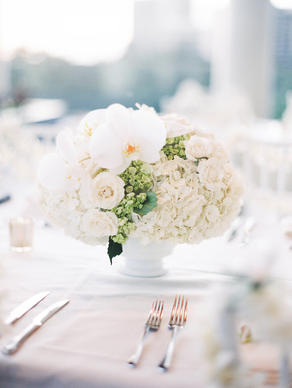 white flower arrangement by passion roots-ashley goodwin photography