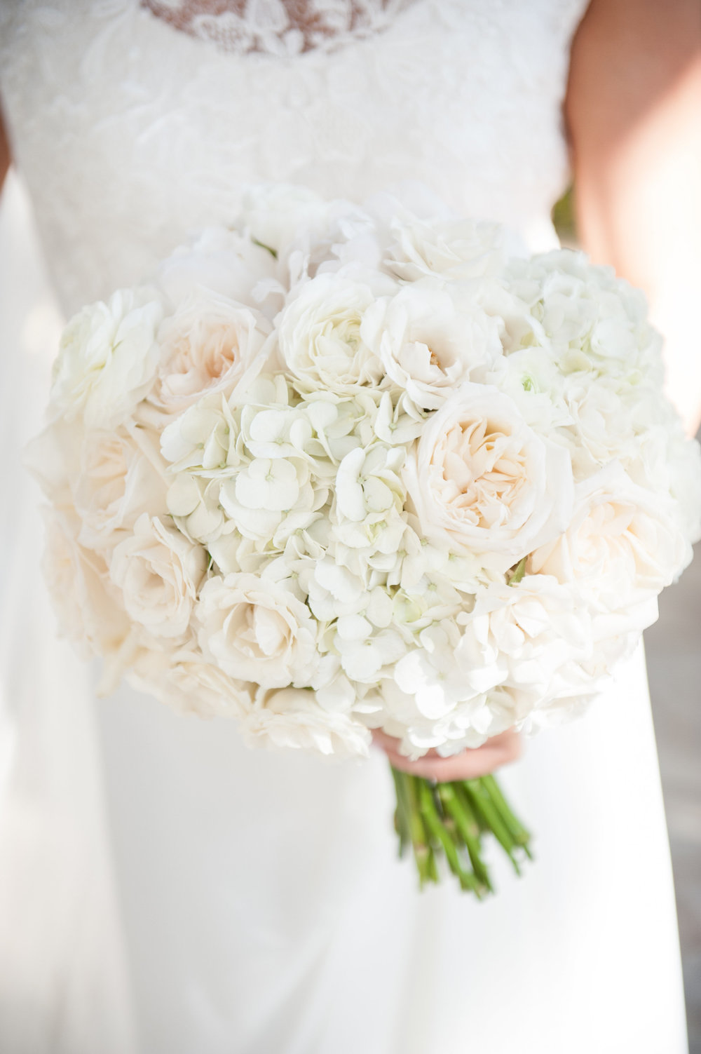 feminine white bridal bouquet by Passion Roots | Rachel Robertson Photography