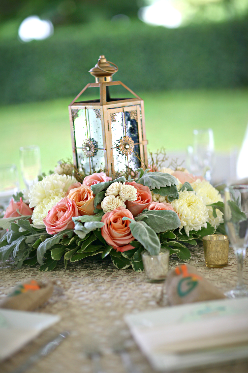 gold lantern with peach flowers by Passion Roots-frank amodo photography