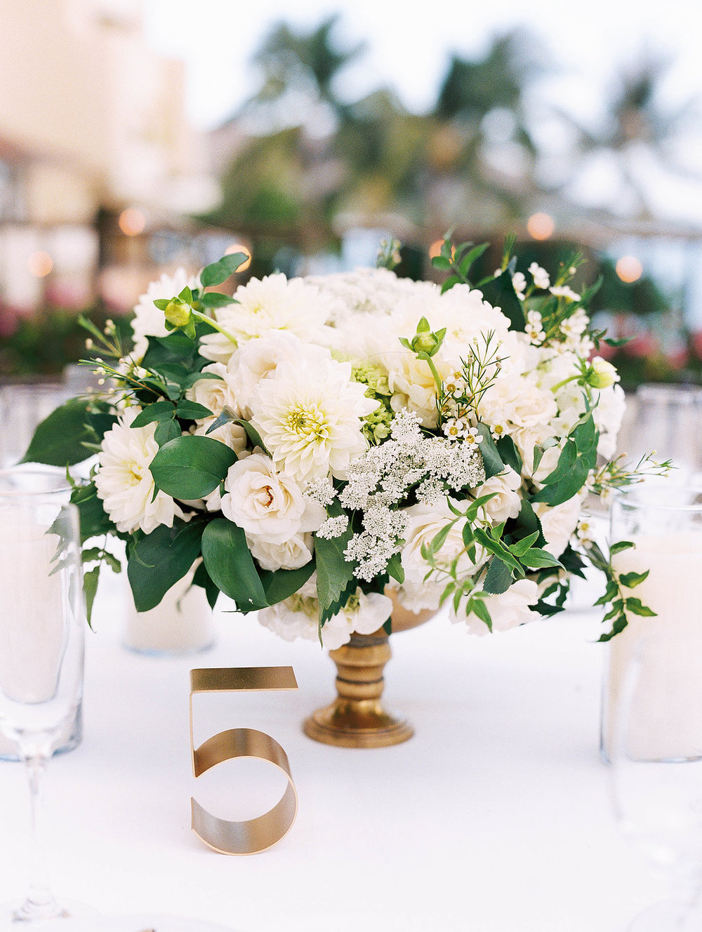 Passion roots oahu hawaii florist centerpieces white and green centerpice by passion roots ashley goodwin photography oahu hawaii junglespirit Images