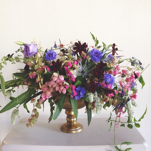 pink and purple boho arrangement by Passion Roots | Oahu, Hawaii