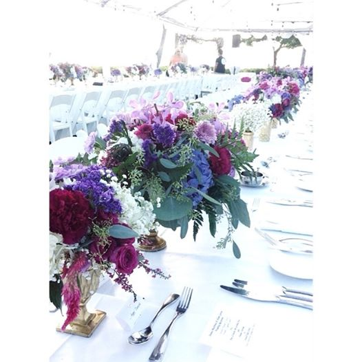 boho wine and berry colored centerpiece by Passion Roots