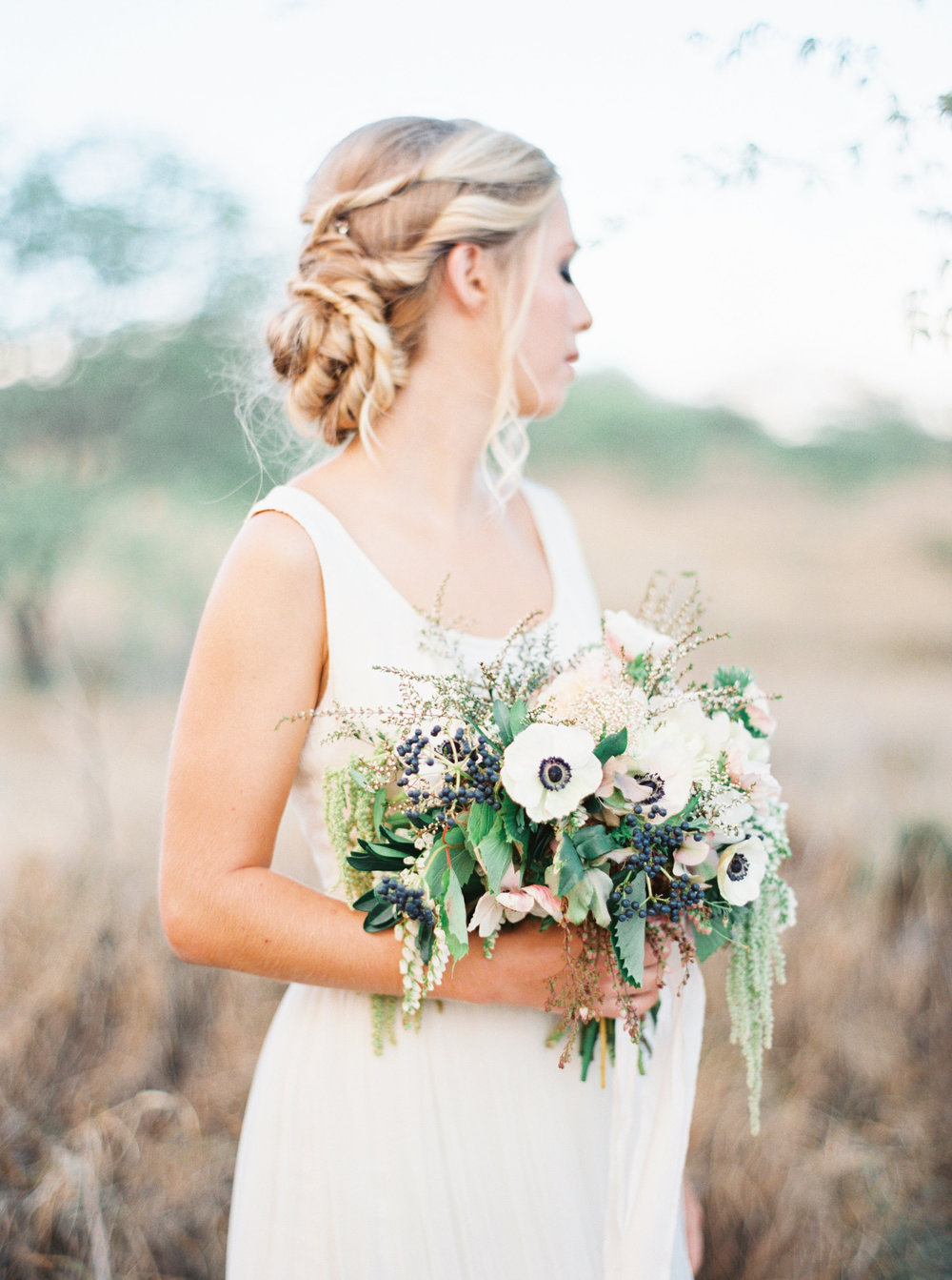 boho blush hand tied bouquet by Passion Roots | Kylie Martin photography | Oahu, Hawaii