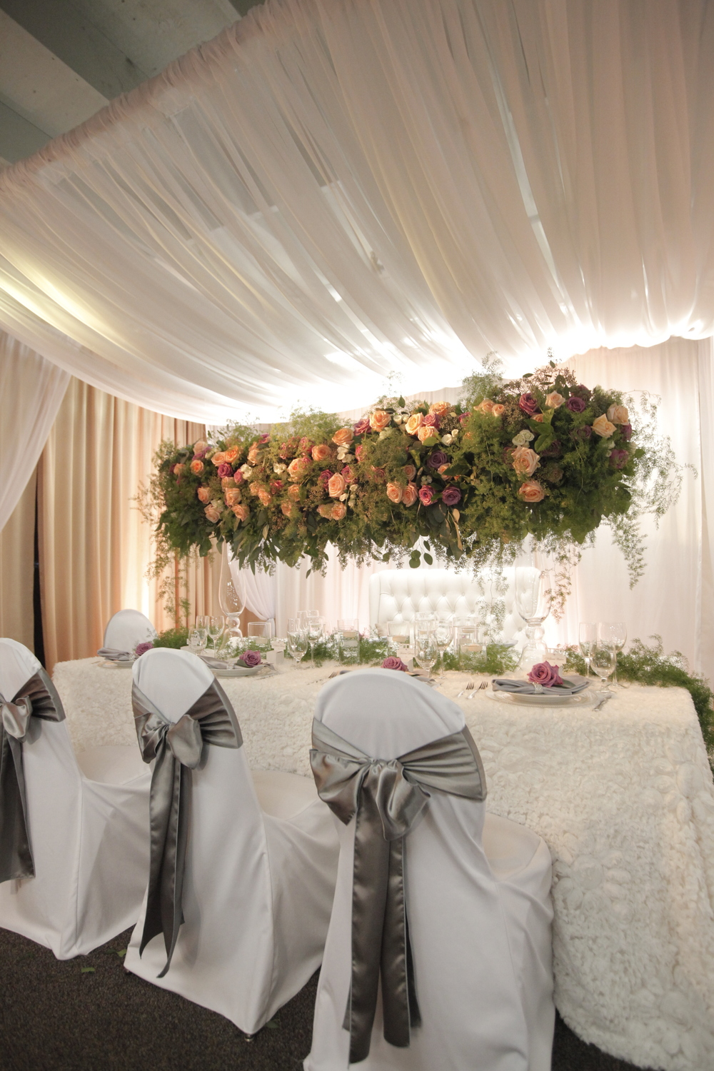 hanging centerpiece by passion roots-mike pham photography