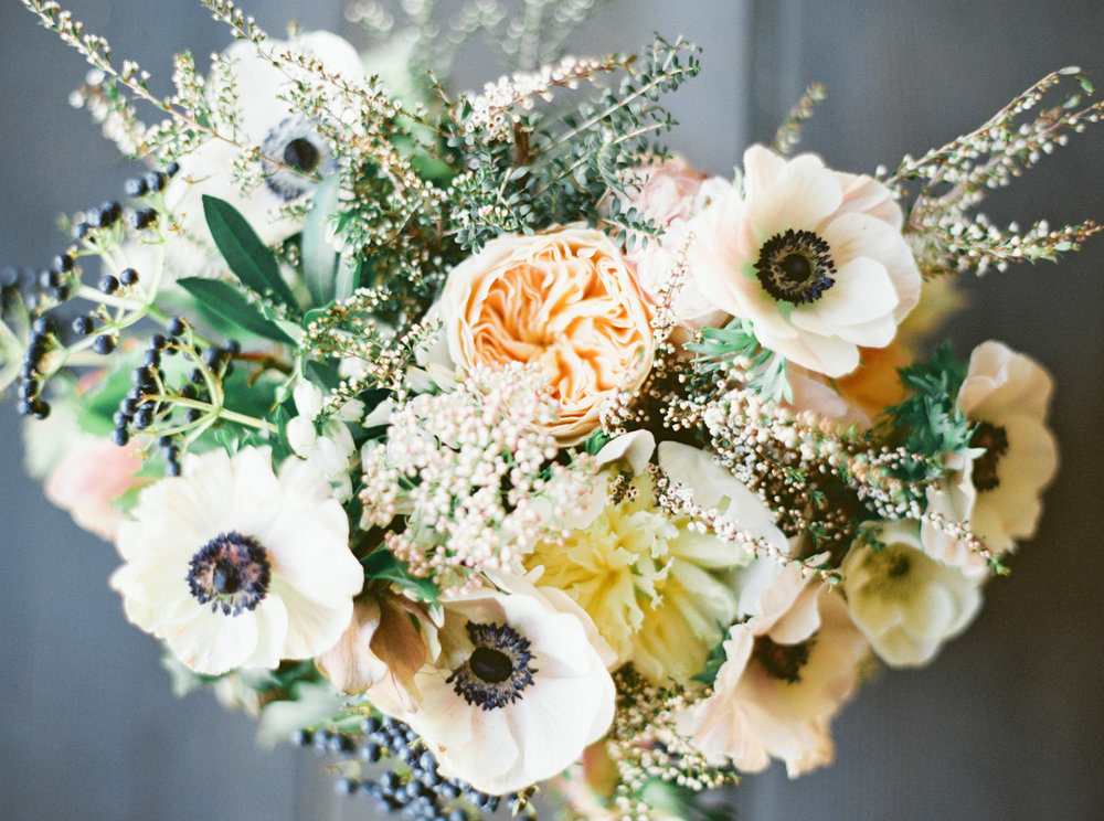 anemone bouquet by Passion Roots | Kylie Martin photography | Oahu, Hawaii