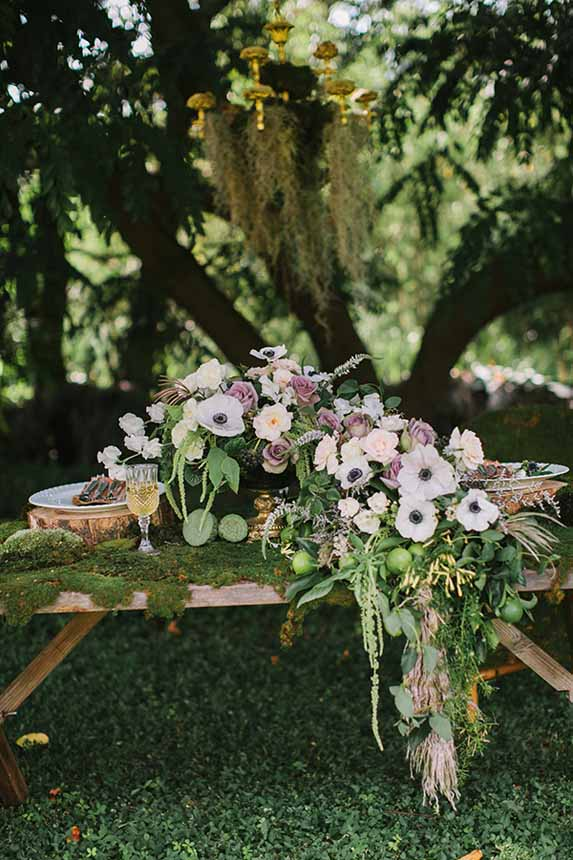 Purple Fantasy Centerpiece |What a Day! Photography