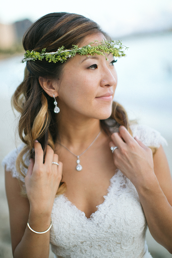 Thin Boho Crown by Passion Roots | What a Day! Photography | Oahu, Hawaii