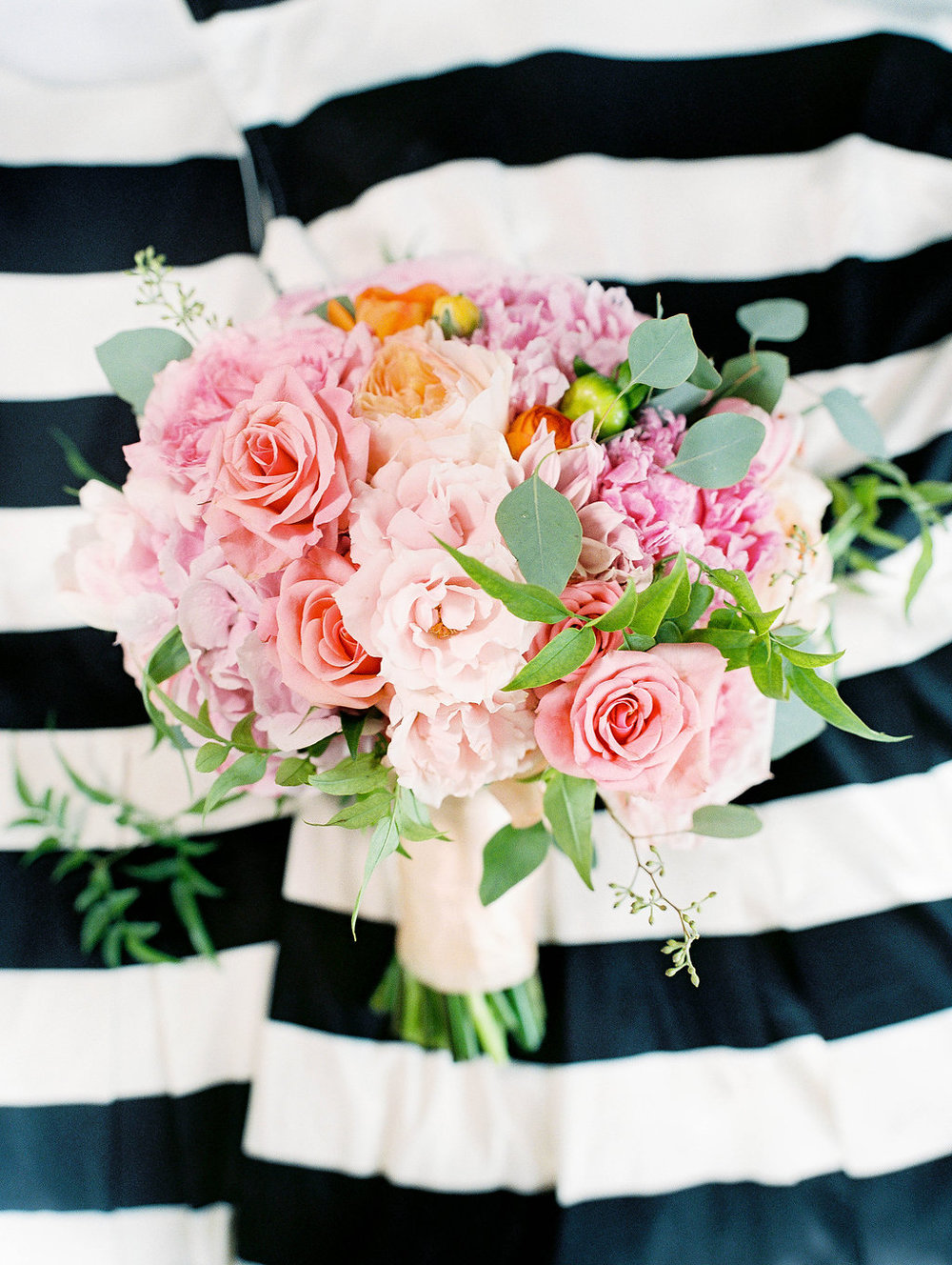 kate spade inspired pink peony bouquet by Passion Roots | Ashley Goodwin Photography