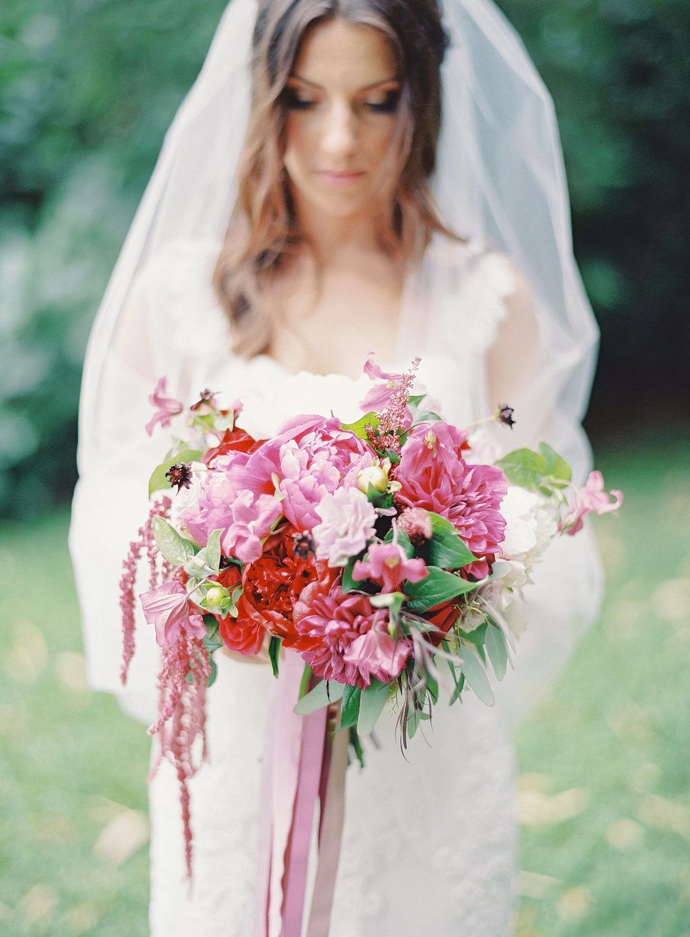 berry lush bouquet florals by Passion Roots | The Great Romance Photography | Oahu, Hawaii