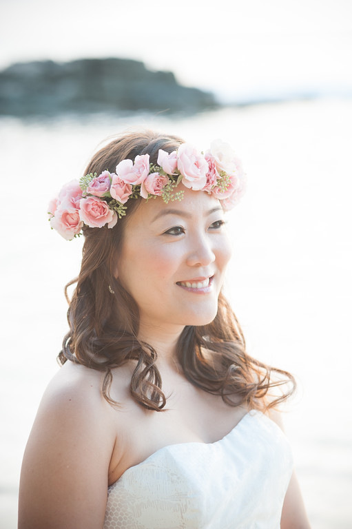 pink flower crown by Passion Roots | Cappy Hotchkiss Photography | Oahu, Hawaii