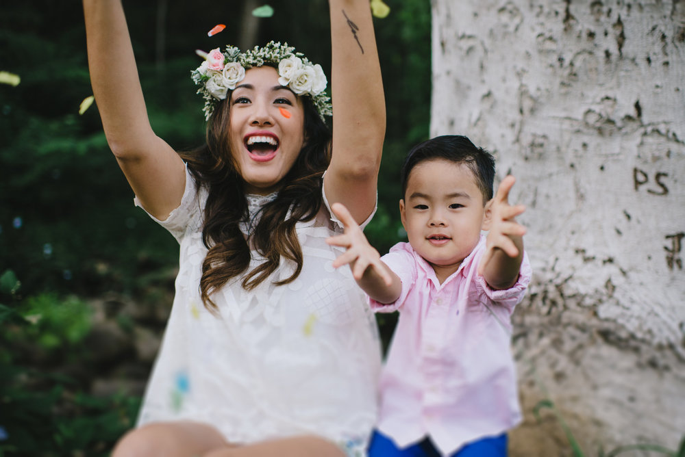 pink and white boho crown by Passion Roots | June Cochran Photography | Oahu, Hawaii
