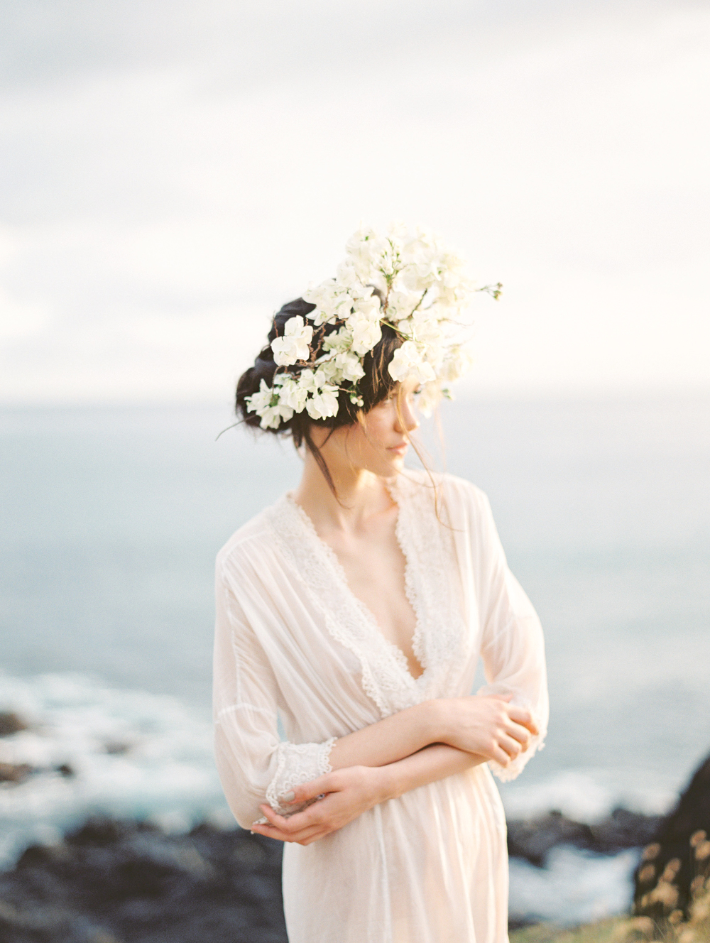 Head Crown florals by Passion Roots | Christine Clark Photography | Oahu, Hawaii