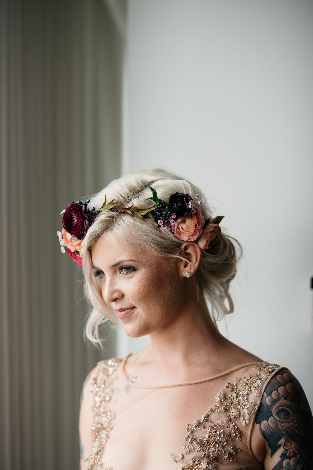 Floral Crown by Passion Roots | Studio Something Photography | Oahu, Hawaii