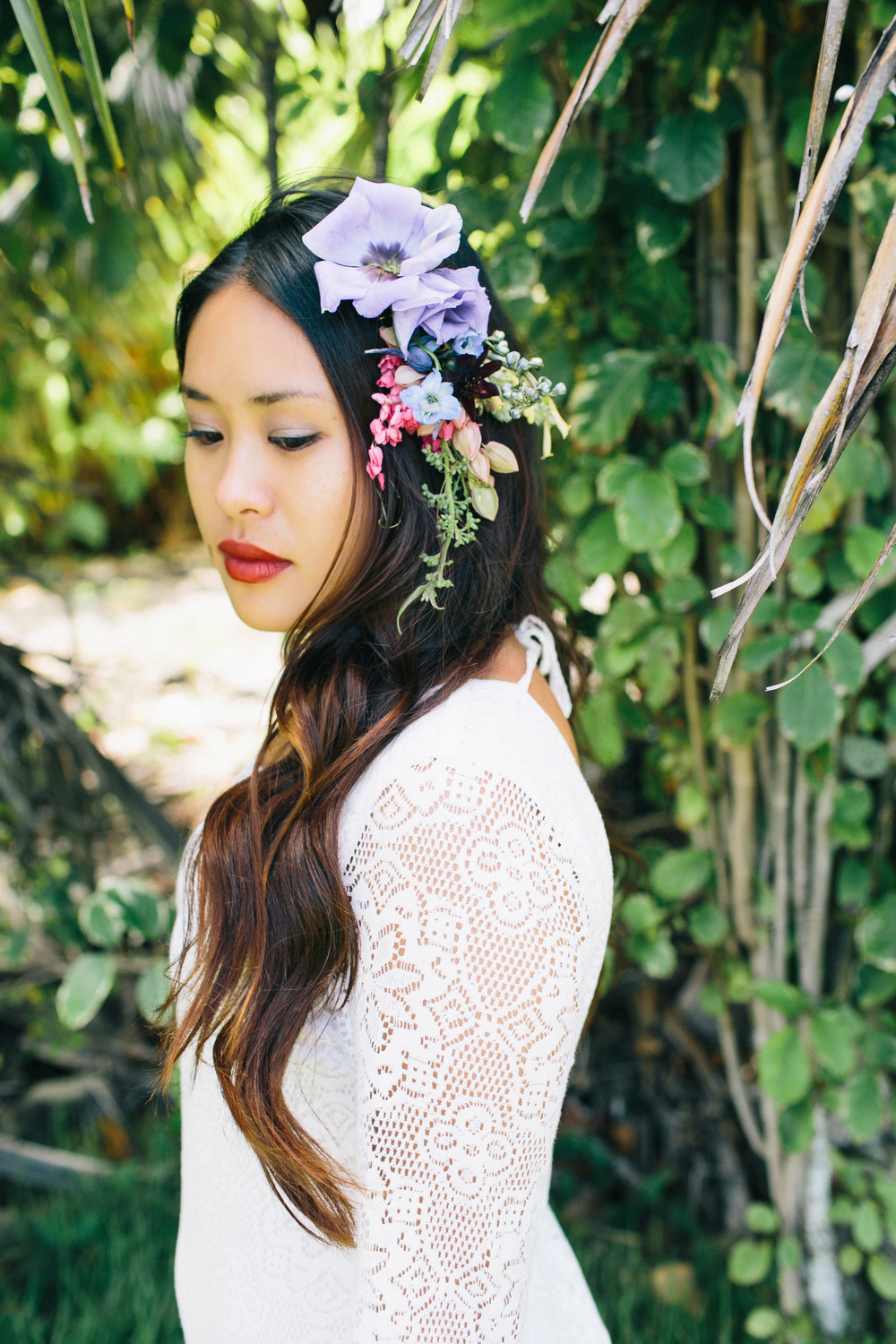 Hair Piece | florals by Passion Roots | Pinky Photography