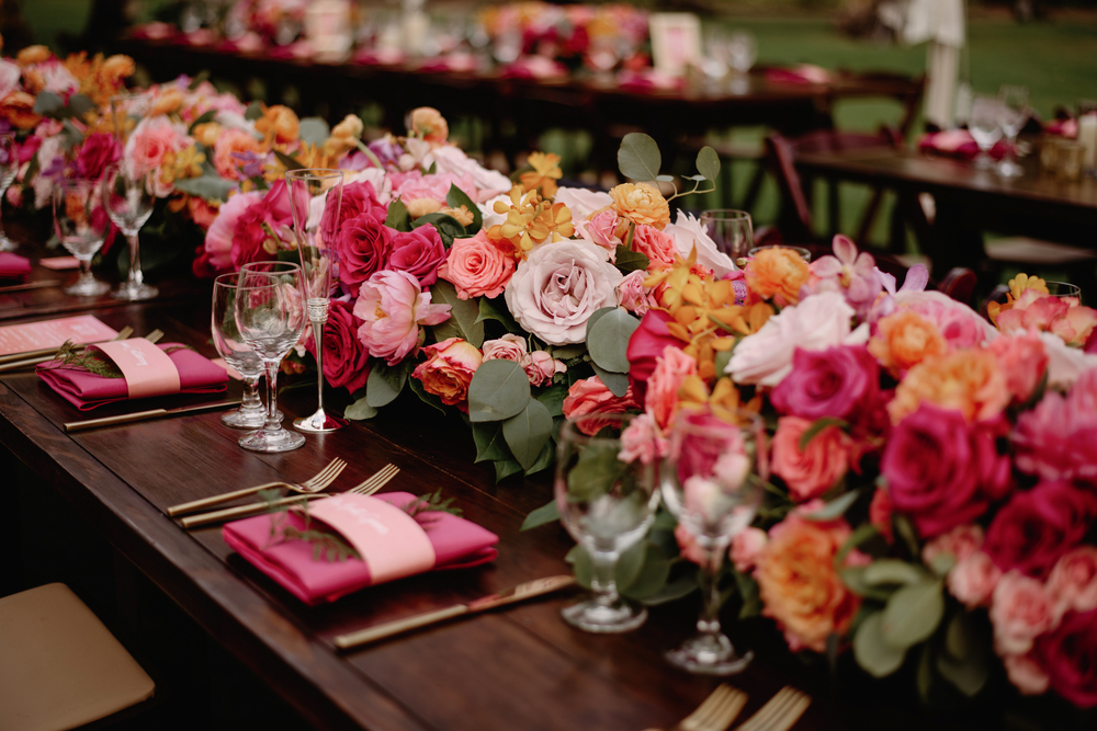 Floral Garland Centerpiece | Florals by Passion Roots | June Photography