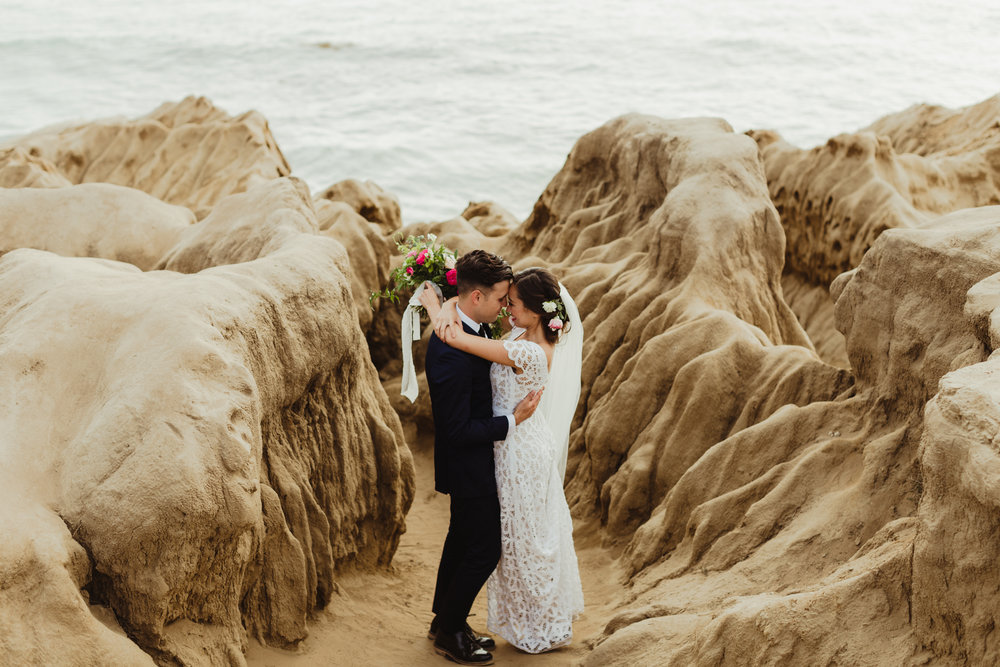 San Diego wedding, Sunset Cliffs