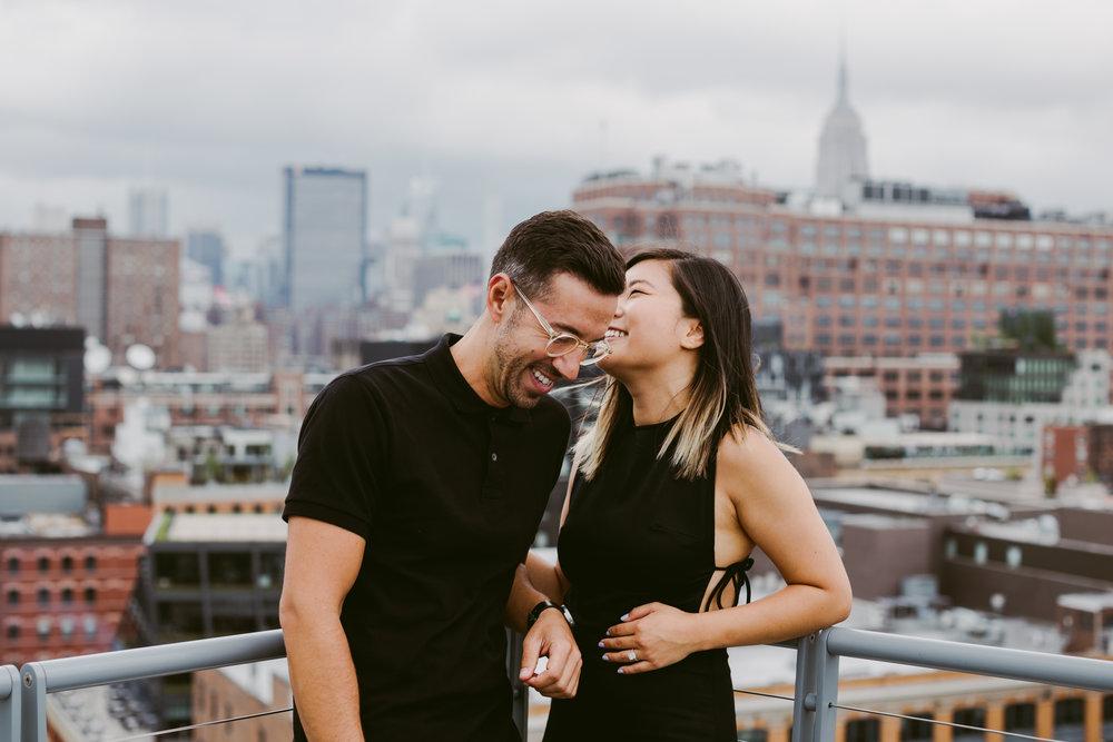 New York City Manhattan engagement shott