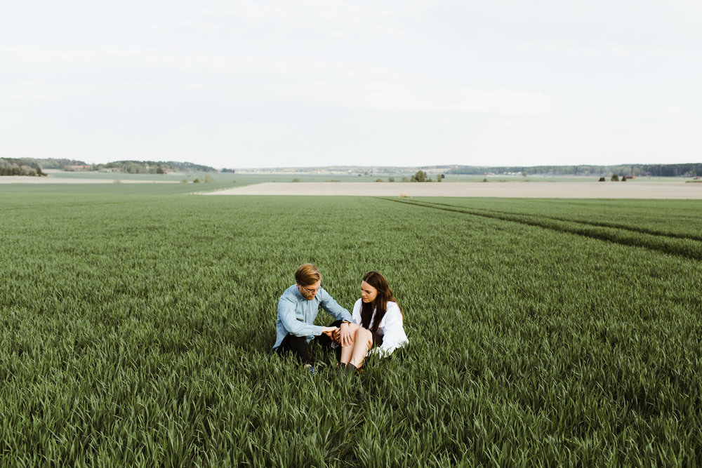 Engagement shoot in Sweden