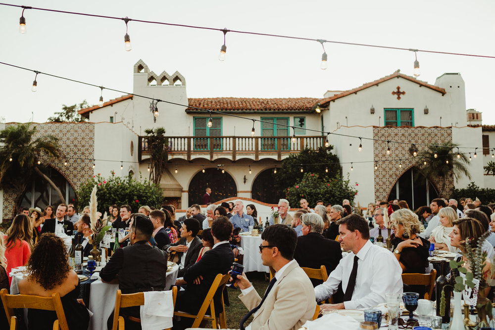 Adamson House Wedding in Malibu, California. Photography by Hannah Costello