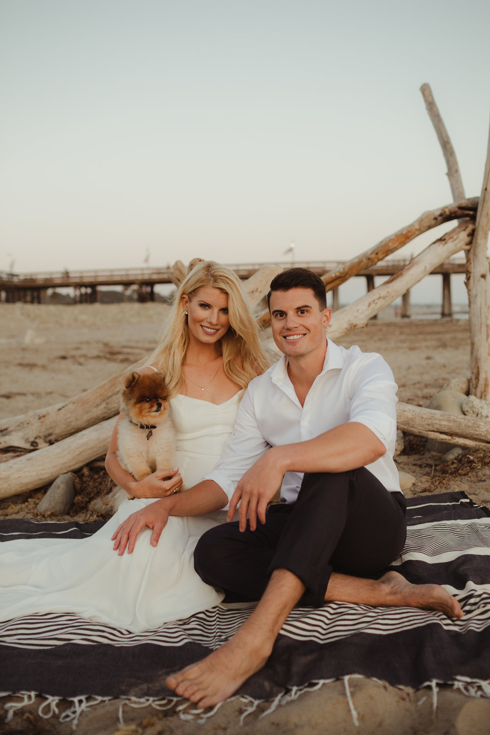 Ventura California Beach Engagement Shoot Photographed by Hannah Costello