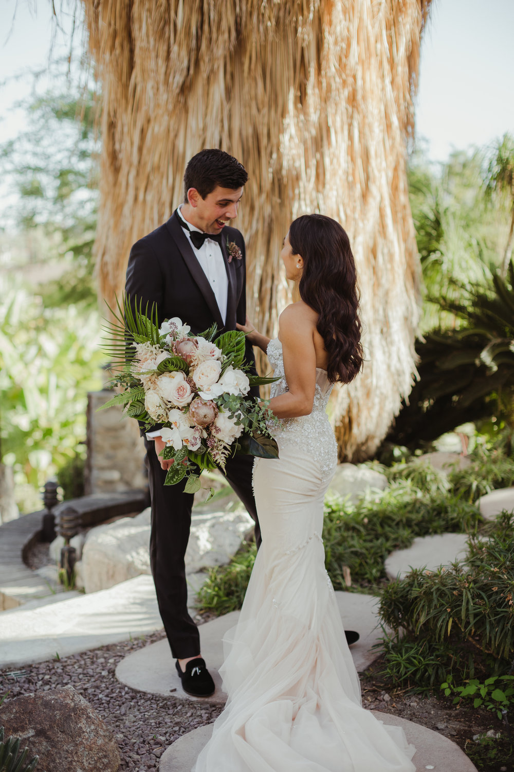 Lauren & Ben's Colony 29 wedding in Palm Springs, California photographed by Hannah Costello