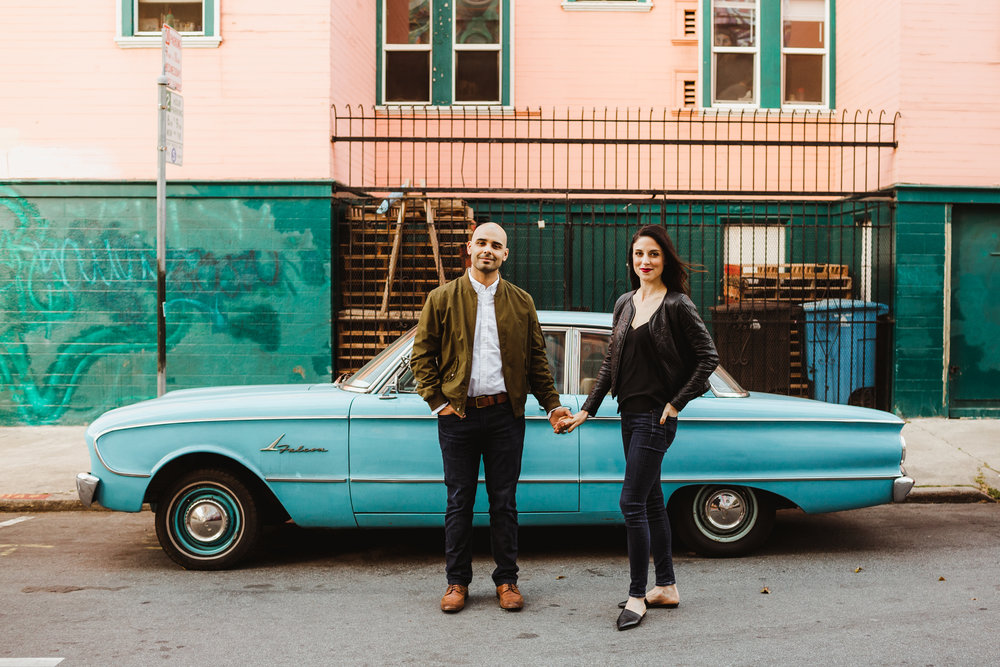 San Francisco City Engagement Shoot Photographed by Hannah Costello