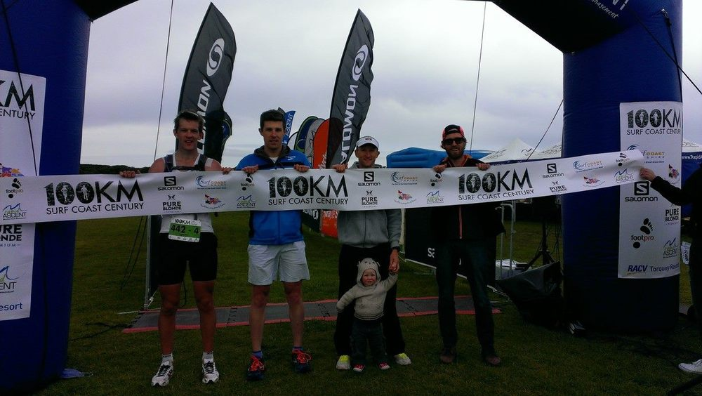 As part of the winning team of the Surf Coast Century 100km run in 2013