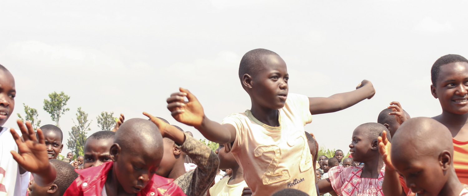 Africa Children Dancing and Smiling