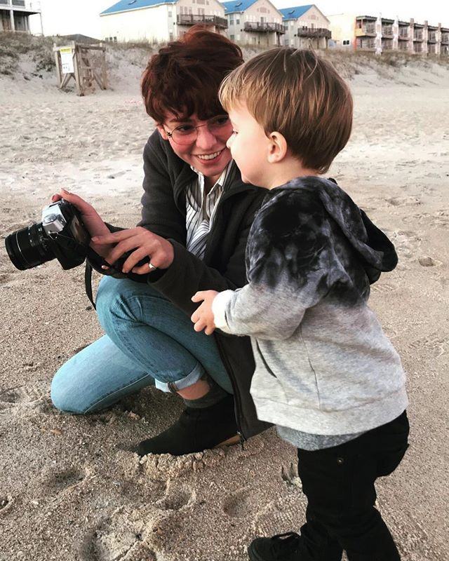 I'm in love. My nephew has grown so much since the last time I saw him and I am in full auntie mode. . . . #family #newyear #beach #wilmington #aunt