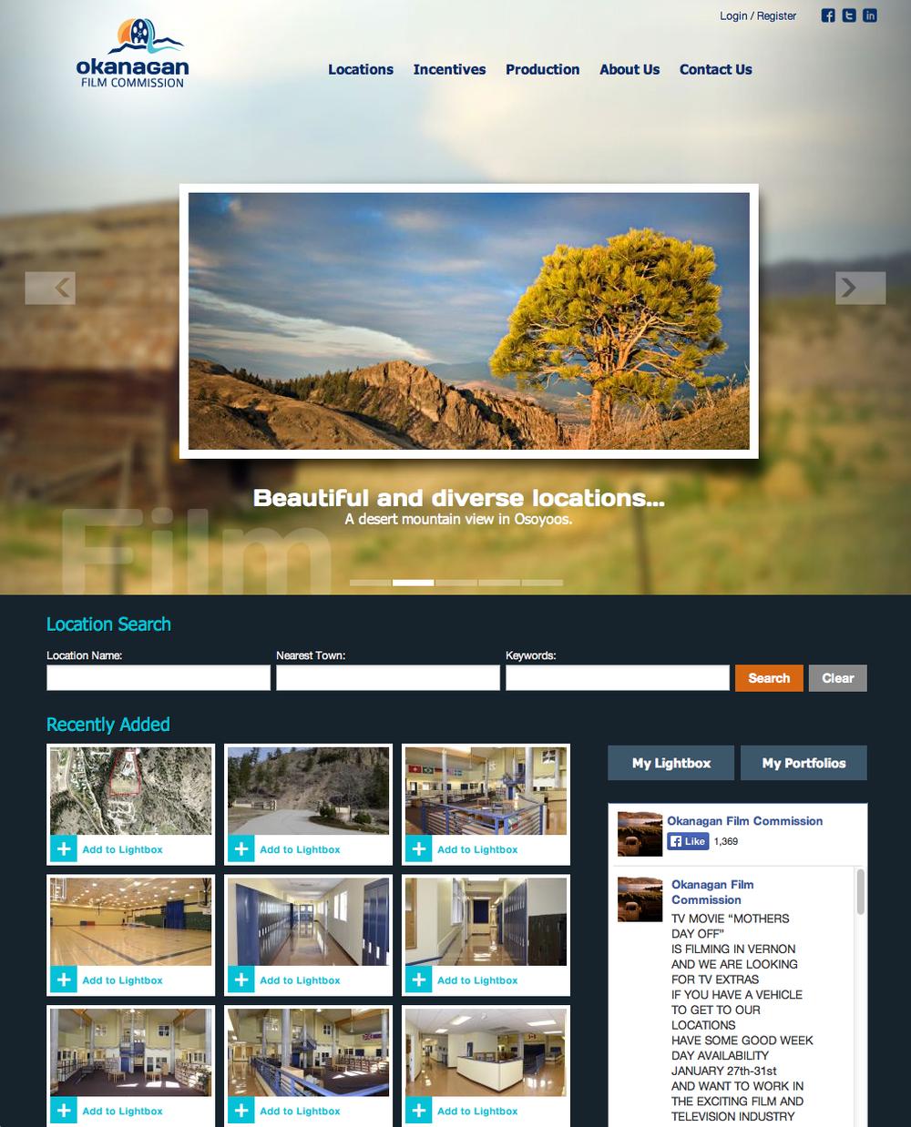 FILM COMMISSION WEBSITE   More web design