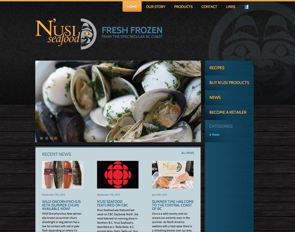 FINE SEAFOOD WEBSITE   More web design