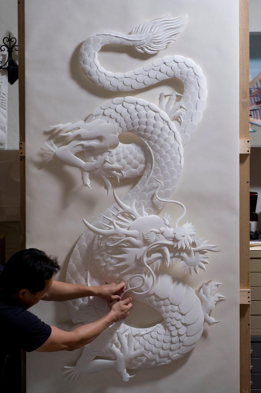 Dragon Paper Sculpture