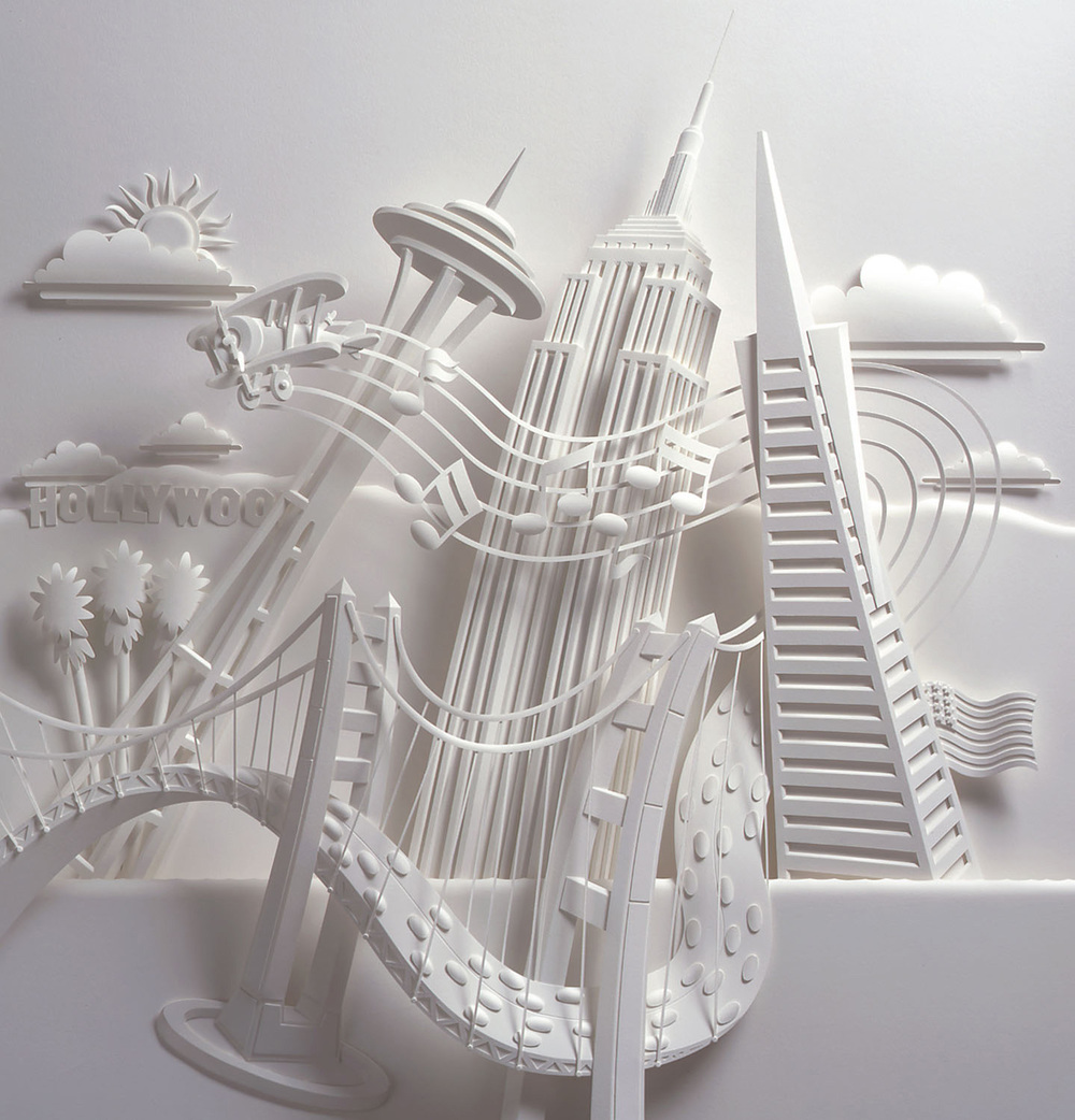 Skyscrapers Paper Sculpture