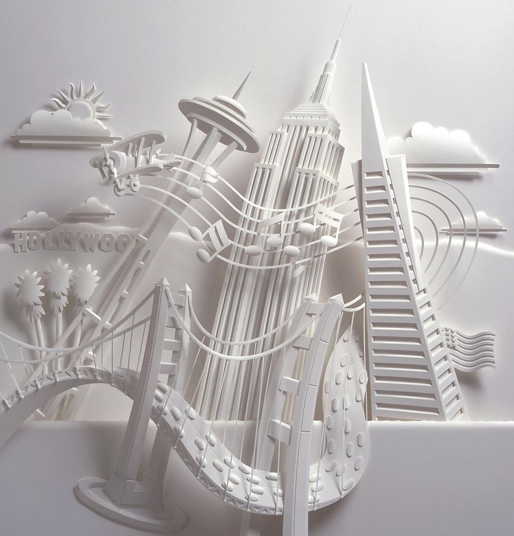 Skyscrapers Paper Sculpture