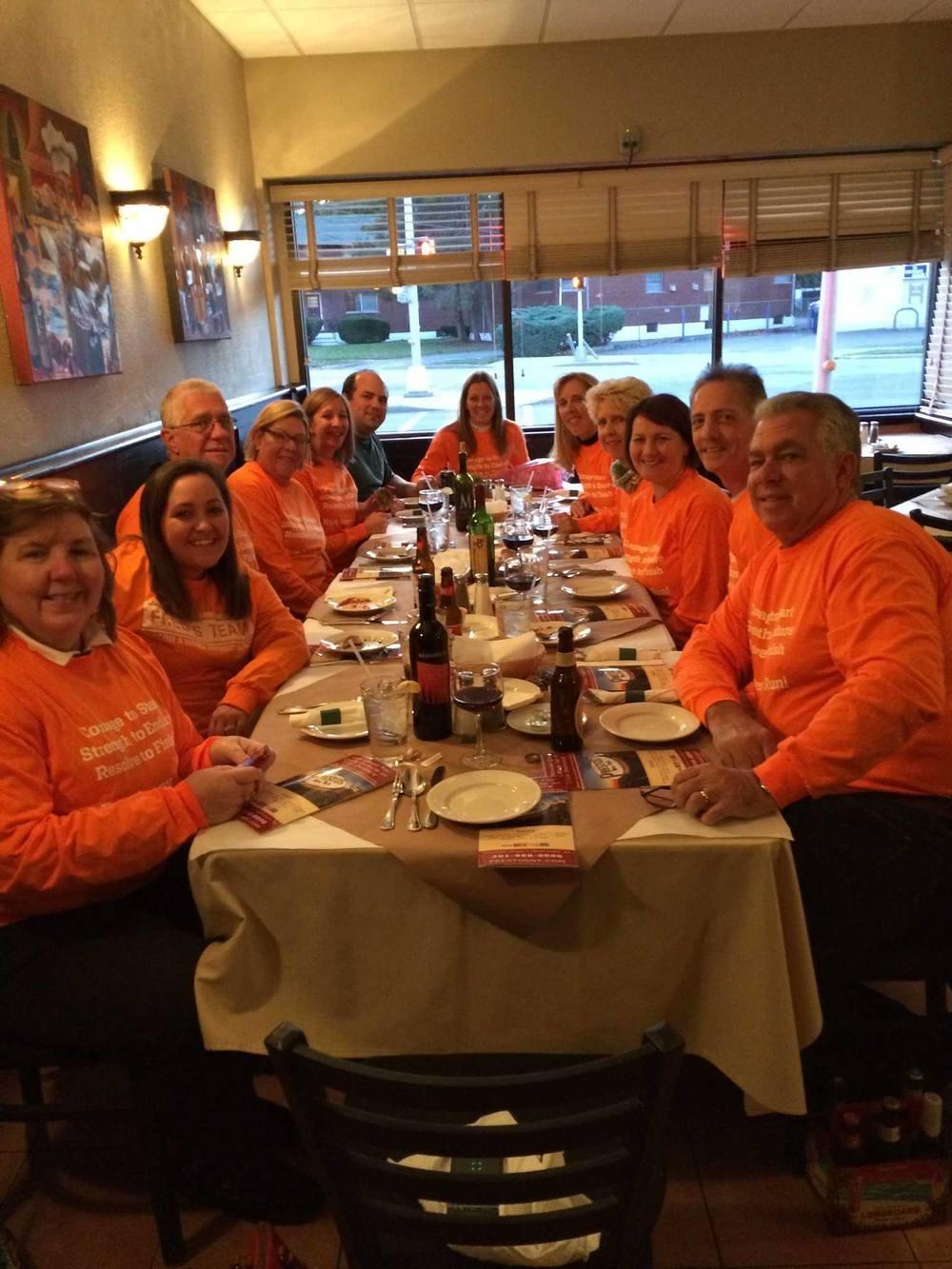 2014 marathon celebration dinner!