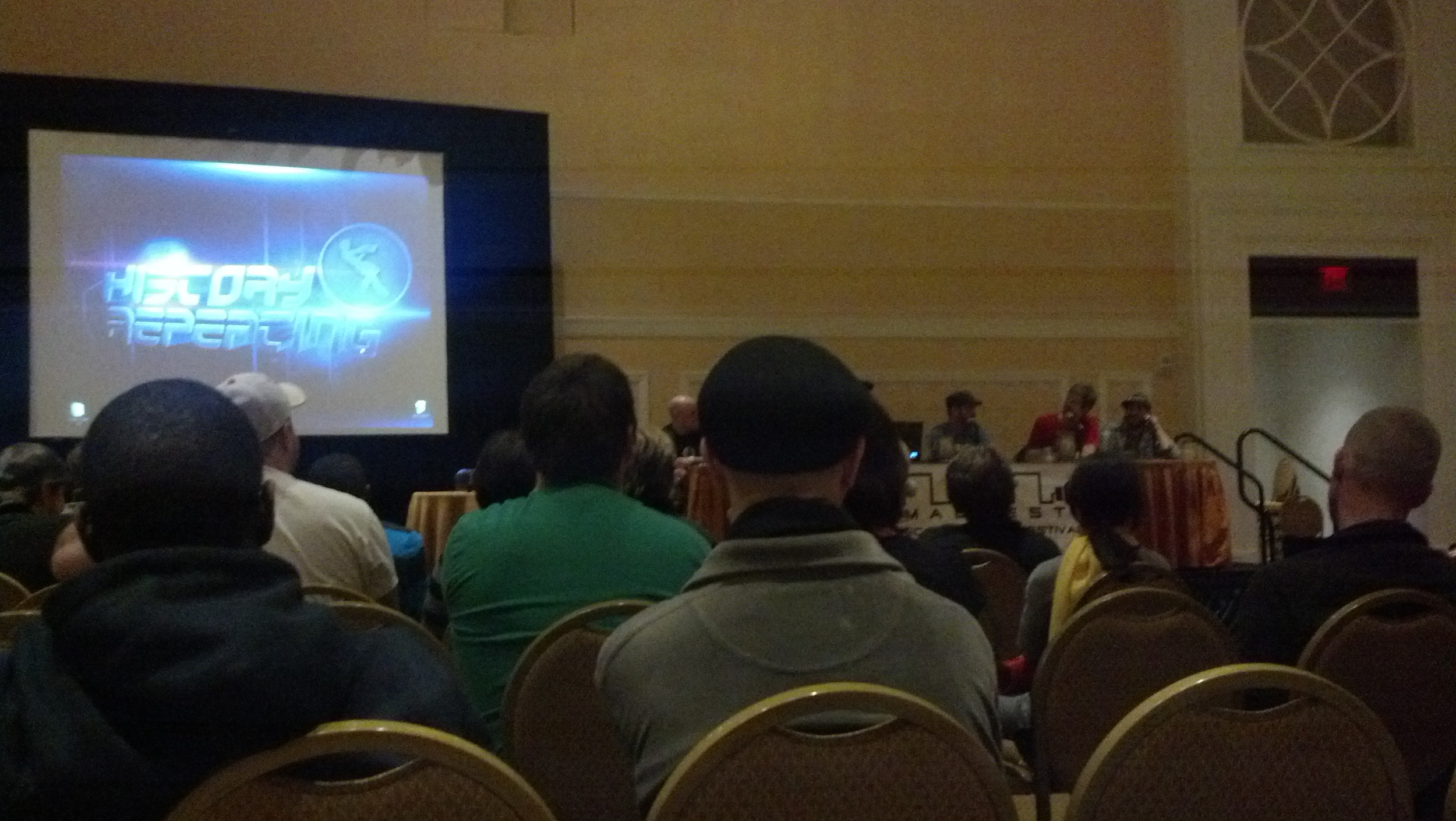 The Megas, with Bentelfloss hosting their QnA panel.