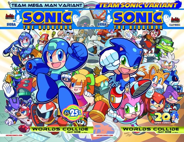new covers for worlds collide volume 1 sonic the hedgehog 250
