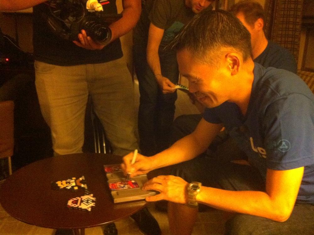Signing Mega Man 2!