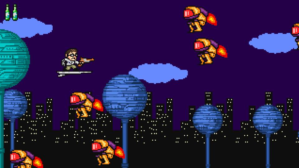 A Bomb Man-esque cityscape.